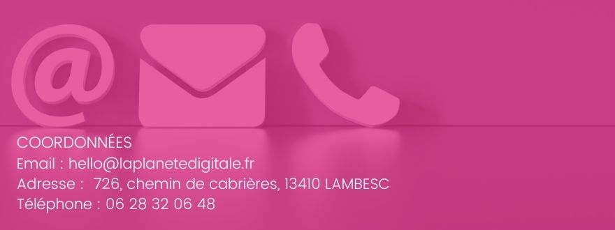 coordonnées agence la planete digitale rose